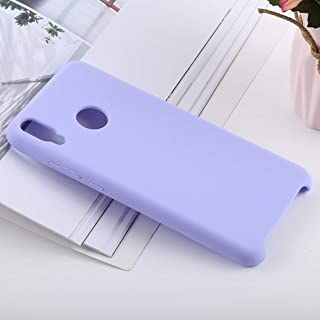 Phone Shell Solid Color Liquid Silicone Shockproof Case for Huawei Honor 8X(Black) (Color : Purple)