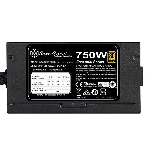SilverStone Technology 750 Watt Semi-Modular 80 Plus Gold Computer Power Supply PSU ET750-HG