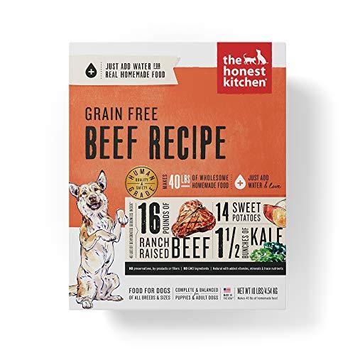 The Honest Kitchen Human Grade Dehydrated Grain Free Beef Dog Food 10 lb - Love
