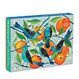 "Galison Naranjas Puzzle, 1,000 Piece Puzzle, 20""x27"", Fun and Challenging, Gorgeous and Colorful Illustration of Birds and Oranges, Art Jigsaw Puzzle with Birds for Families"
