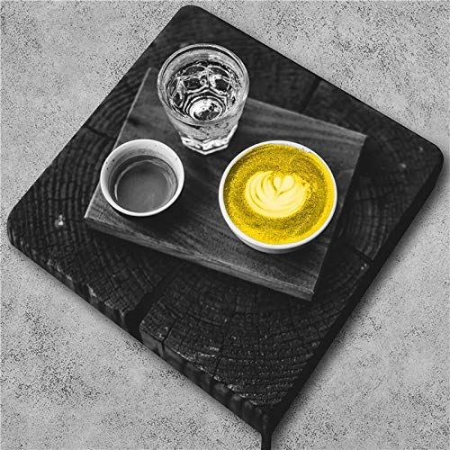 JHGJHK Taza de café Amarilla Estilo nórdico Pintura al óleo impresión Arte Dulce decoración del hogar Pintura artística decoración de Restaurante (Imagen 4)