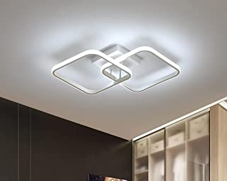 Osairous Plafonnier carré Moderne, LED lustres, Lampe de Plafond Acrylique 42W pour Cuisine Salle à Manger Salon Studio Bu...