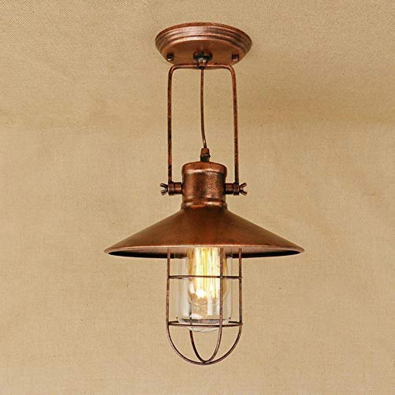 BYDXZ Deckenleuchte Metall Retro Vintage Industrial Style Antik Deckenleuchte Deckenleuchte Lampe Flur Küchenstudio Loft Foyer Deckenbeleuchtung Innenlampe E27 Edison-Birne Rost -