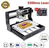 [Upgraded Version] 5500mw Engraver CNC 3018 Pro Engraving Machine, GRBL Control 3 Axis Mini DIY CNC Router Kit with Offline Controller, Working Area 300x180x45mm, for Wood Plastic Acrylic PVC