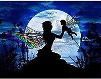Amnogu 大人木製ジグソーパズル1000ピース蝶天使妖精子供レジャークリエイティブパズルゲームアートおもちゃパズル