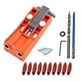 Woodworking Pocket Hole Jig Kit Drill Guide Puncher Locator with 2 Magnets (C)