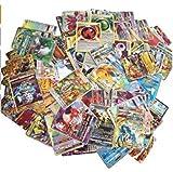 100 Pieces Cartes Pokeemon Assorties GX Mega Energy and Trainer Cards Cartes de Jeux Pokemon Collection pour Nouvel an Cadeau Enfants Jouets Jeu de Loisirs Jeu de fête