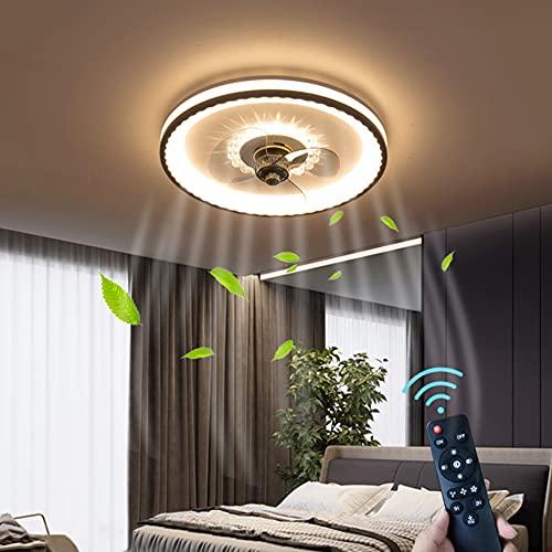 LED Deckenventilatoren Beleuchtung Mit Fernbedienung 36W Einfache Moderne Wohnzimmerlampe Kinderzimmer Decke Lampe Stumm Fan Deckenleuchte Nordische Timing-Funktion Schlafzimmerlampe Lüfterlampe