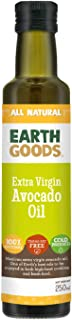 Earth Goods Extra Virgin Avocado Oil; 100% Natural; Transfat Free; Cold Pressed; 250ml