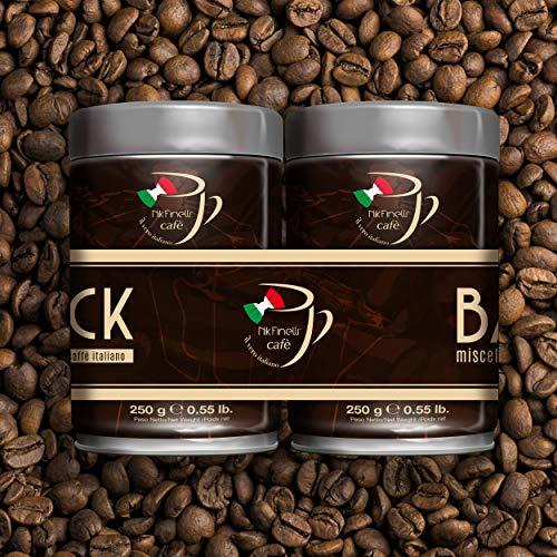 Nik Finelli Cafè - Bar Espresso, Koffie, Gemalen, slow Gebakken, Tin, 2 Pakken, 2 x 250g , BI-PACK