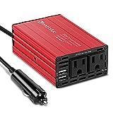 300W Car Power Inverter, Mentialuc DC 12V to AC 110V Car Plug Inverter Adapter Power Converter with 4.2A Dual USB Charging Ports...