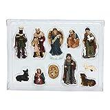 Set di 11 statuine di presepe di Natale, presepe di Natale, presepe di Natale in resina, artigianato artistico