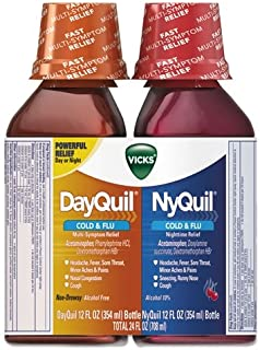 Vicks Dayquil Cold & Flu Multi-symptom Relief 12 Oz (Pack of 2)