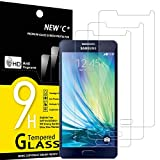 NEW'C 3 Unidades, Protector de Pantalla para Samsung Galaxy A5 2015 (SM-A500F), Antiarañazos, Antihuellas, Sin Burbujas, Dureza 9H, 0.33 mm Ultra Transparente, Vidrio Templado Ultra Resistente