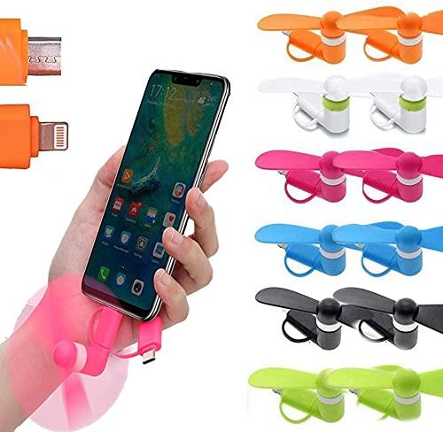 FGen Mini Ventilador de teléfono USB, Mini Ventilador 2 en 1, Ventilador de teléfono móvil, Utilizado en Actividades al Aire Libre, oficinas y Otras escenas, Fácil de Cargar (12 Piezas)