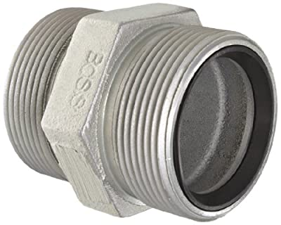 Dixon Boss GDB Plated Iron Hose Fitting, Double Spud for Hose ID Female GJ Boss Ground Joint Seal