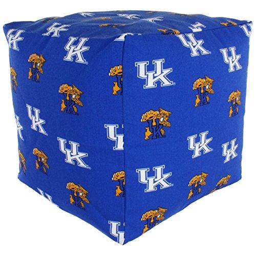 College Covers Kentucky Wildcats Cube Cushion Pouf Chair Bean Bag Ottoman