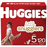 Huggies Little Snugglers Baby Diapers Size 5, 120 Ct