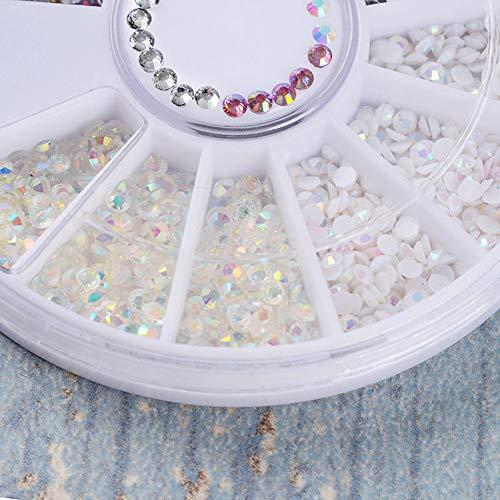 Acrylique 3D nail art astuces décoration strass arrière paillettes paillettes perles perles(3D Acrylic Nail Art Tips Decoration Flat Back Glitter Rhinestones Pearls Beads)