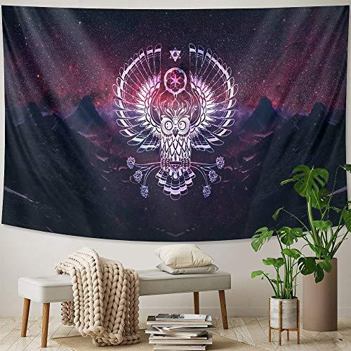 KHKJ Arte Animal decoración del hogar Dormitorio Tapiz de Pared Bohemia Decorativa Estera de Yoga Escena psicodélica Hippie colchón A2 230 * 180 cm