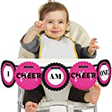 Big Dot of Happiness We Got Spirit - Pancarta para silla alta de primer cumpleaños - I Am One