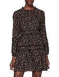 Superdry Richelle LS Dress Vestido Casual, Black Ditsy, L (Talla del Fabricante:14) para Mujer
