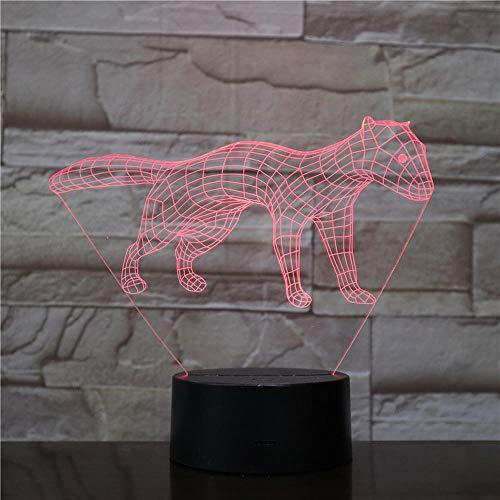 Huizheng 3D Lampe, 3D Illusion Nachtlicht-Erdmännchen Form Nachttischlampe 7 Farbwechsel Weihnachten Halloween Geburtstagsgeschenk für Kind Baby Boy