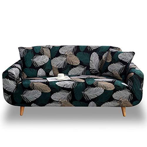 HOTNIU Elastischer Sofabezug 2 Sitzer Sofahusse Strech Sofa Überzug Couch Cover Muster Couchbezug Sofabezüge Schonbezug Couch Antirutsch Hussen für Sofas mit 1 Kissenbezug, Pattern #Ry