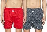 Amazon Brand - Symbol Men\s Printed Boxers (Pack of 2)(SYMBXPO2-6_3949 & 3542_Multicolor_Small)