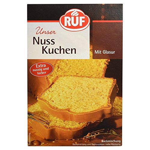 RUF Nußkuchen Backmischung extra nussig mit Kakaoglasur, 1 x 520g Packung