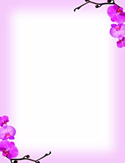 Great Papers! Pink Orchids Letterhead, 8.5 x 11 Inches, 80 Count (2013191)