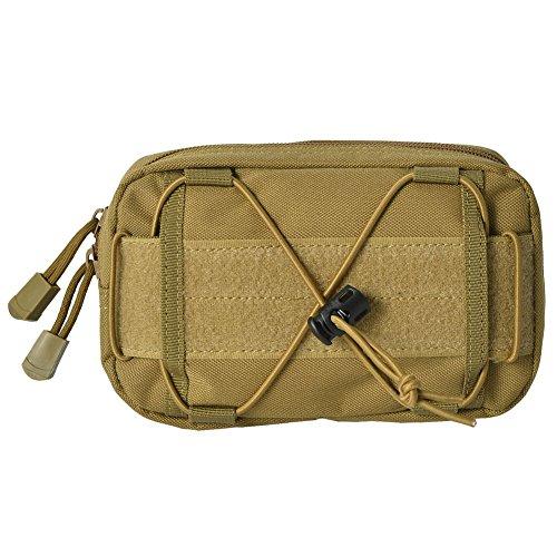 Zdmathe Molle Ceinture tactique pour téléphone portable avec poche d'extension pour outils de premiers secours