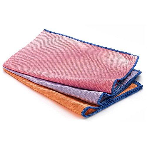 HC Handel 936221 Fenstertuch aus Mikrofaser - 3er Set rosa, lila, orange