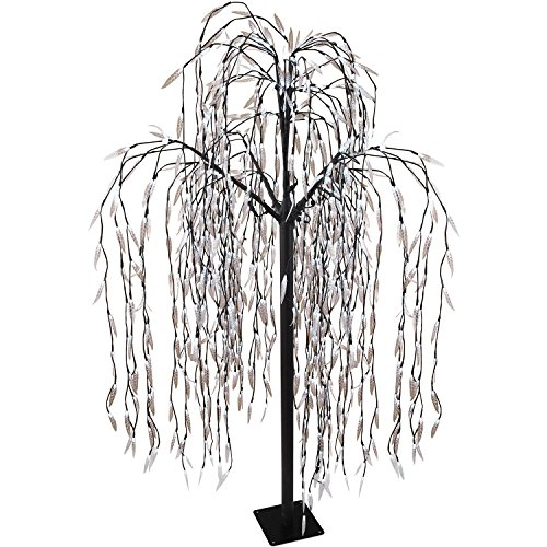 Riesiger Lichterbaum Trauerweide 810 weiße LED H210cm mit Lauflicht Lichterdeko Stimmungslicht Leuchtbaum Dekoration Stimmungsleuchte
