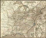 1855 Map  Post-kanal-und eisenbahnkarte der verbeinigten staaten von nord-Amerika  Tra