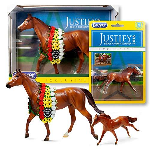 Breyer Justify Horse Model Set   Includes Traditional & Stablemates Models