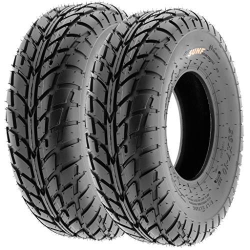 Pair of 2 SunF A021 TT Sport ATV UTV Dirt & Flat Track Tires 20x7-8, 6 PR, Tubeless