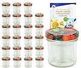 Set di vasetti da 167ML, CON COPERCHIO colore frutta parete to 66con diamante gelier zauber ricettario, Marmellata, barattoli, barattoli, Occhiali