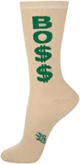 Boss Dollar Signs Green Gold One Size Adult Crew Socks