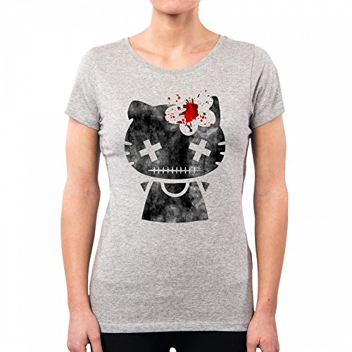 PACDESIGN Camiseta Mujer Hello Kitty Dead Japan Nippon Irene Bedino Ib0008a, M, Lightgrey