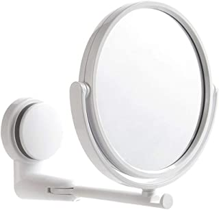 Easyinsmile Folding Makeup Mirror Wall Mount Vanity Mirror Swivel Bathroom Mirror Round No Tools