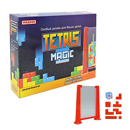 Doble Juego de Mesa Tetris Rompecabezas, Regalo Padre-Hijo Educativo Interactivo 3D Juego...