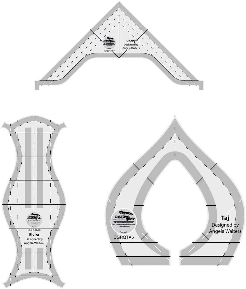 Creative Grids supreme Machine Quilting Tool 3 Taj Pack Chevy low-pricing Elvira -