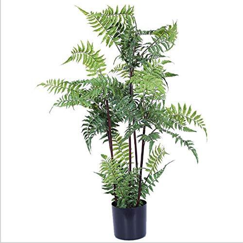 RUIZHISHUArtificial Plant Varen Kantoor Huis Decoratie 80Cm Indoor en Outdoor Kunstboom met Zwarte Kunststof Bloempot