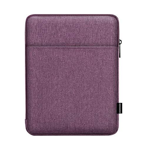 Dadanism 9-11 Zoll Tablet Taschen Case für New iPad 10.2 2020/2019, iPad Air 4 10.9 2020, iPad Pro 11 2020, iPad 9.7/Air 10.5, Samsung Galaxy Tab A7 10.4, Polyester Tablet Schützen Tasche, Violett