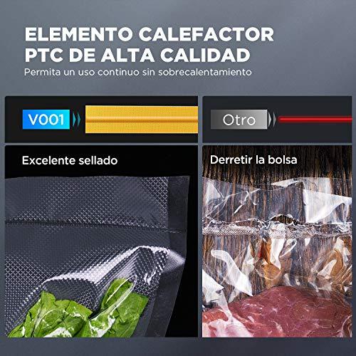 CalmDo Envasadora al Vacío, Máquina Selladora al Vacío Automático para Alimentos,6 en 1 Sellador al Vacío Profesional Seco y Húmedo 120W con Rollo de Bolsas y Tubo para Uso Doméstico, CD-V001