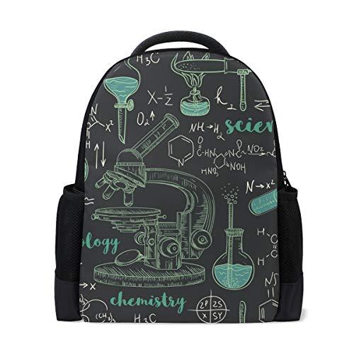 Zaino scolastico, chimica laboratorio microscopio universitario spalle borse scuola libro borse zaino per ragazzi ragazze