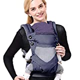 SaponinTree 4-in-1 Baby Carrier for Newborn, Breathable Adjustable Swaddle Wrap with Hood, Ergonomic Breastfeeding Baby Sling Carrier for Newborn to Toddler up to 20kg (0-48 Months)