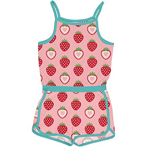 Maxomorra Girl Jumpsuit kurz Strawberry 122/128