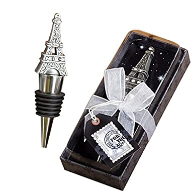 From Paris With Love Collection Eiffel Tower Wine Bottle Stopper Favors, Paack of 2